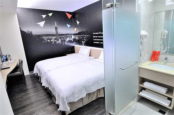 台北西悠飯店_客房_標準雙床房