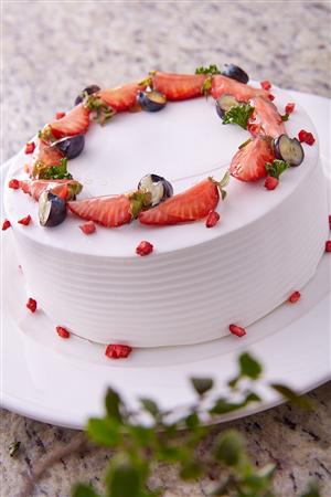 新北烏來璞石麗緻溫泉會館_咖啡店_草莓奶油蛋糕