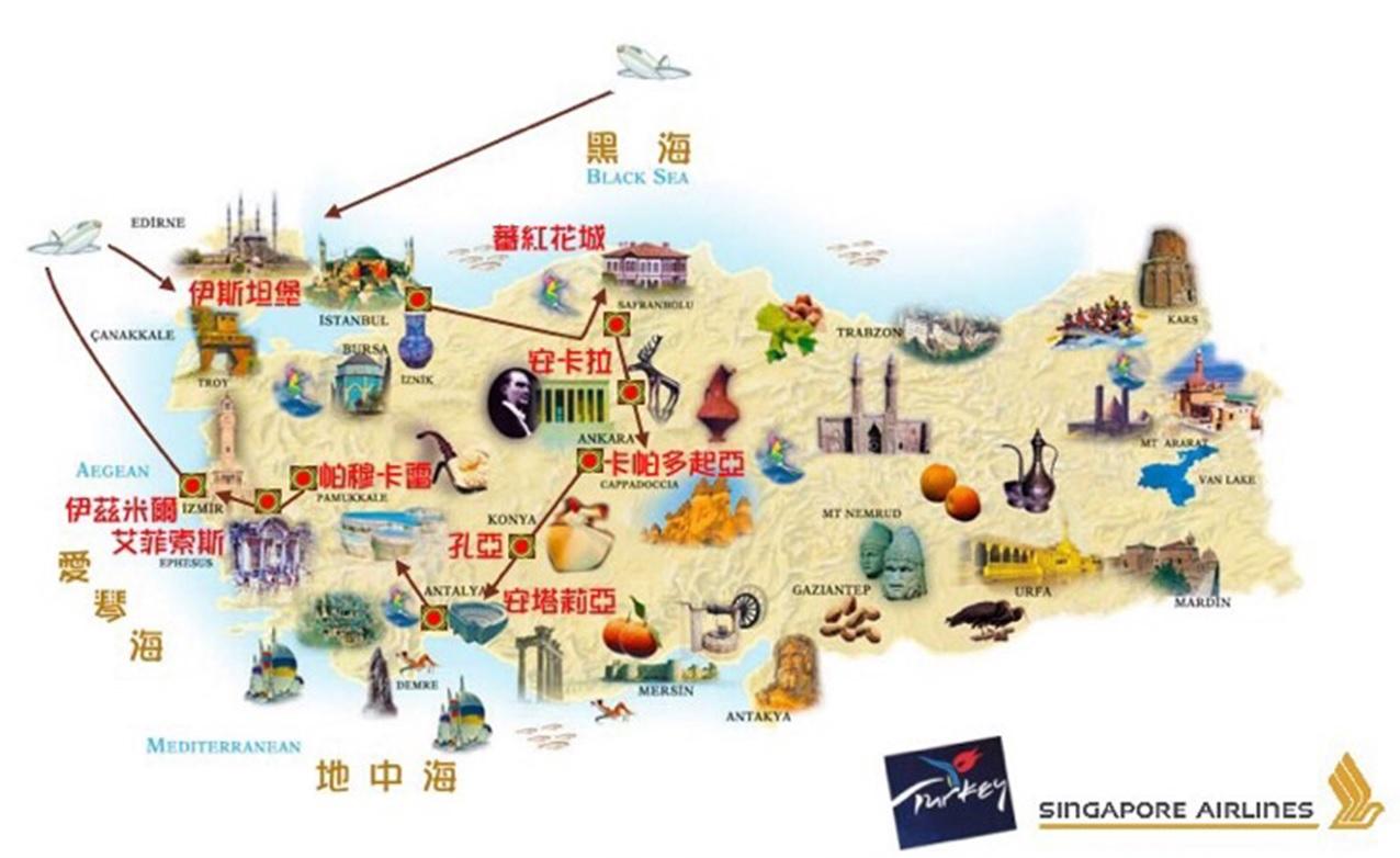 新加坡手绘旅游地图ai
