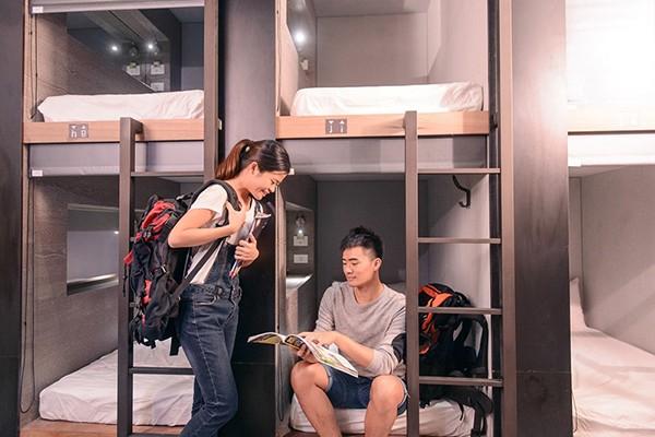 背包客青年旅舖-奇異果台中站前二館_客房_客房